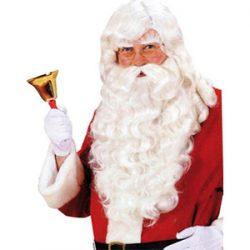 Barba, cejas y peluca de Santa Claus