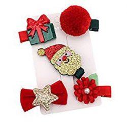 Varios broches navideños infantiles