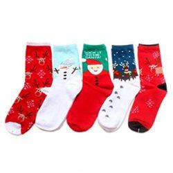 Calcetines de mujer con motivos navideños