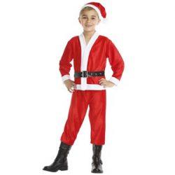Disfraz de Santa Claus para niños de 5 a 6 años
