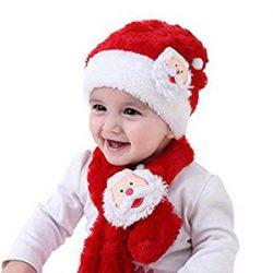 Gorro y bufanda Santa. Bebés