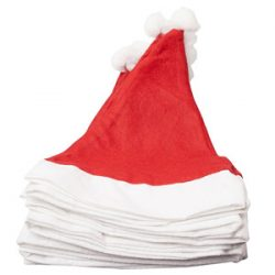 Pack de cien gorros de Santa Claus