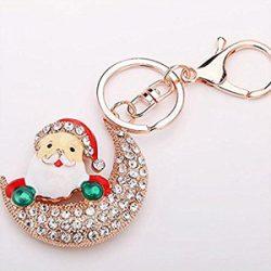 Llanero de Santa Claus y luna