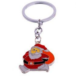 Llavero de Santa Claus llevando un saco