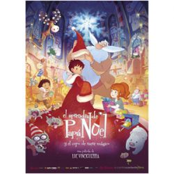 Portada de la película, El Aprendiz de Papá Noel