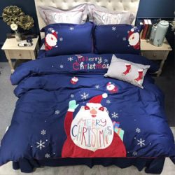 Ropa de cama Santa Claus cartoon