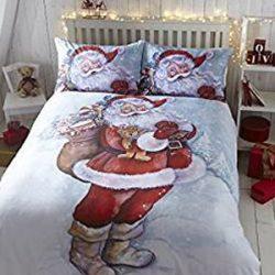Funda nórdica Santa Claus en la nieve