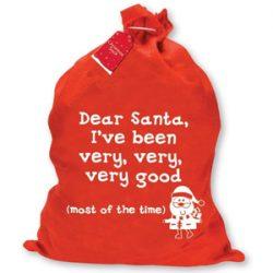 Saco de Santa Claus. He sido bueno