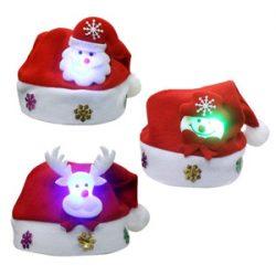 Gorros de Santa Claus con luz led para niños