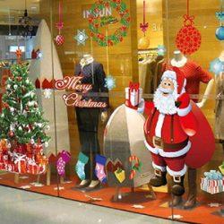 Vinilos Santa Claus y árbol Navidad