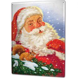 Rótulo metálico de Santa Claus