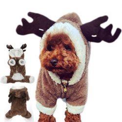 Disfraz de reno para perro pequeño