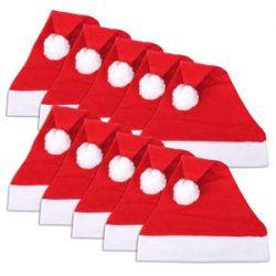 Gorros de Santa Claus Pack de 10 gorros de Navidad