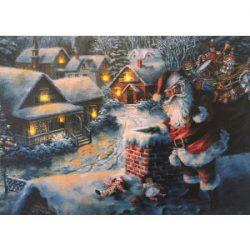 Lienzo impreso e iluminado de Santa Claus