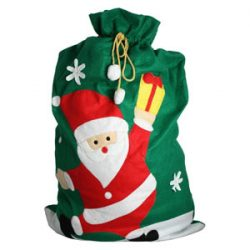 Saco Verde de Papá Noel