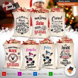 Sacos personalizables para regalos de Navidad