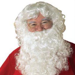 Barba y peluca de Santa Claus