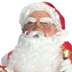 Barba y peluca de Santa Claus adulto