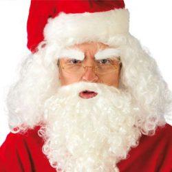 Barba y peluca premium de Santa Claus