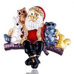 Broche Santa Claus Alloy Brooch