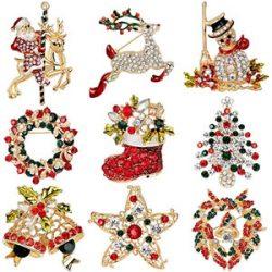 Broches de cristal de Navidad