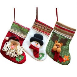 Calcetines de Santa Claus para regalo