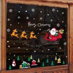 Pegatinas de Santa Claus para escaparate
