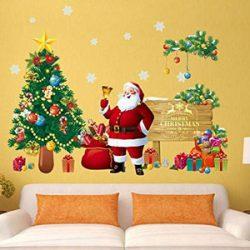 Pegatinas de Santa Claus para pared o ventana