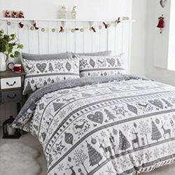 Ropa de Cama Navidad de color gris