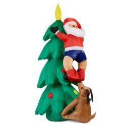 Árbol y Santa Claus inflable