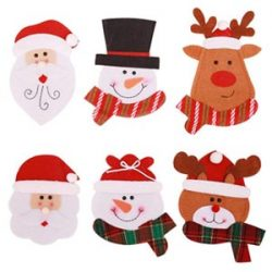 Bolsas de Santa Claus para cubiertos