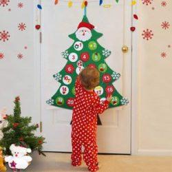 Árbol calendario de adviento para niños