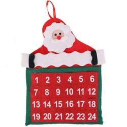 Calendario de terciopelo Santa Claus