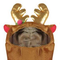 BEETEST Navidad Navidad mascota perro Reno cuernos estilo traje corto felpa