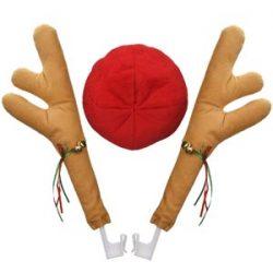 Disfraz de Coche de Reno con Cascabeles para Navidad Coche Accesorios de Fiesta