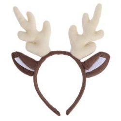 inksky Aro de pelo de cornamenta de reno Navidad Kids Headband Headwear para niños