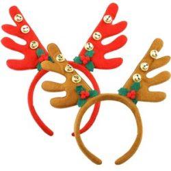 Diadema Cuernos Reno Cuernos Ciervo Disfraz Decoracion Navidad Conjunto de 2