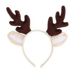 Tinksky Aro de pelo de cornamenta de reno Navidad Kids Headband Headwear para niños