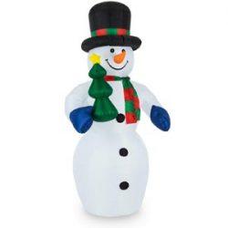 Inflable muñeco de nieve de Navidad