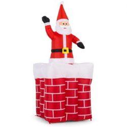 Inflable Santa Claus saliendo por chimenea