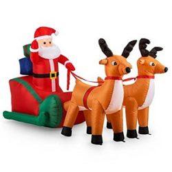 Inflable de Santa Claus en Trineo