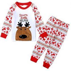 Pijama de niño con reno de Santa Claus