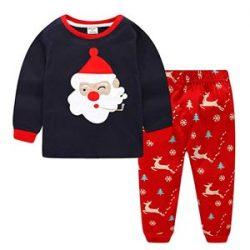 Pijama de Santa Claus fumando en pipa