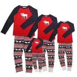 Pijamas de renos de Navidad para la familia