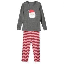 Pijamas de Santa Claus gris y rojo