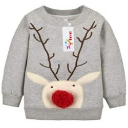 Sudadera de niño con reno de Santa Claus