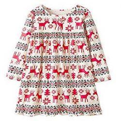 POLP Niña Vestido ◕‿◕ Vestido Mangas Larga con Estampado Otoño de para//Niña Vestido para Manga Larga