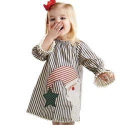 PAOLIAN NiñA De Santa Claus Vestido De Princesa A Rayas Trajes De Navidad Ropa