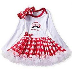 Navidad bebé Ropa de Conjunto Niño Niña Vestido de Santa Claus Tutú Princesa Vestido