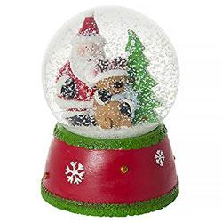 Globo de nieve navideña con Papá Noel